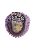 ring: fabrics, agate, glass beads
